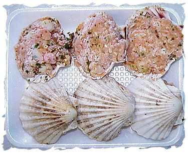 Frozen Stuffed Scallops